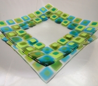 square bowl green/blue