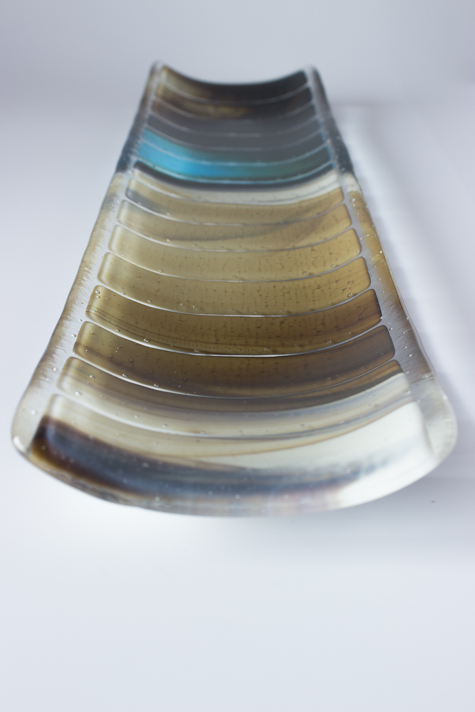fused glass long plate