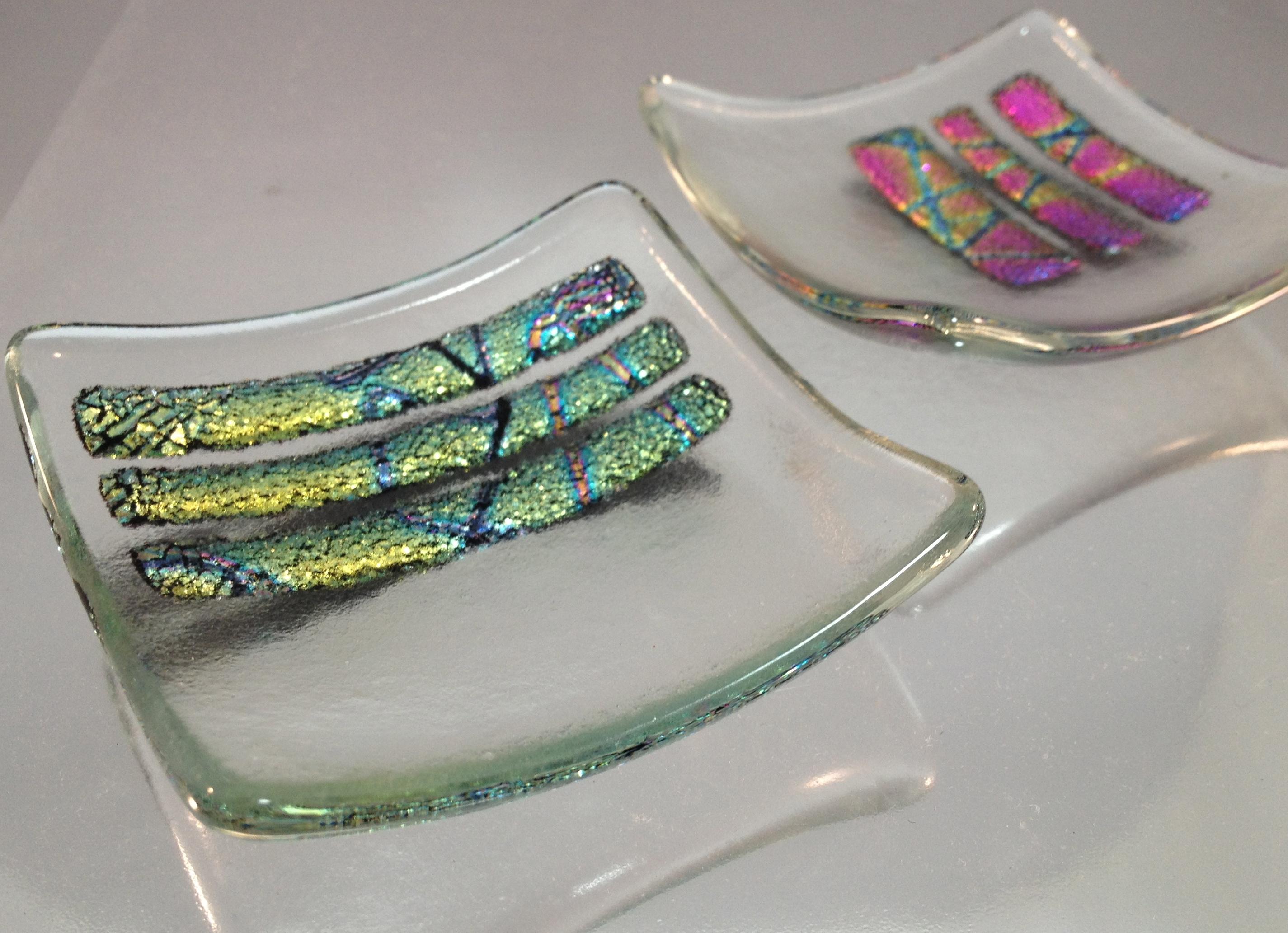 dichroic glass mini bowl