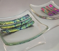 dichroic glass mini bowl