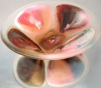 potmelt, fused glass bowl