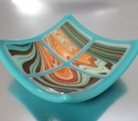 tiny bowl, fused glass