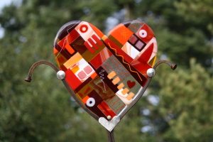 Garden Art - Red Heart