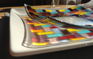 Glass fusing workshop - Salad plate - sample